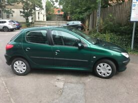 2001 Puegeot 206 with mot until april 2019