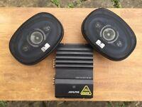 2x Kenwood 250w 6x9 Speakers + 250w Alpine Amplifier