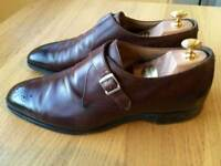 Luxurious Cheaney Leeds Buckle Monk mens formal shoes, brown leather, 43 / uk9, rrp £320