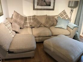 EXCELLENT CONDITION - SCS Left Hand Side Corner Sofa & Footstool