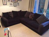 Super Comfy, Black Corner Sofa - REDUCED FROM £500