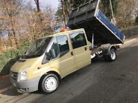 2009 FORD TRANSIT 100 T350L D/C RWD CREW CAB TIPPER ** NEW MOT - 2 OWNERS **