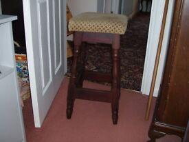 Wooden bar stools a pair