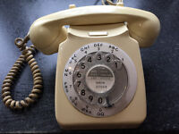 Vintage retro BT telephone Old fashioned collectable