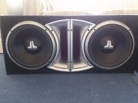 SUB WOOFERS 20 AVAILABLE INCLUDING JL AUDIO, JBL, ROCKFORD FOSGATE & VIBE