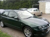 MG ZR 1-4 16v 3-DOOR 2004. ONLY 73,000 MILES LAST FULL SERVICE AT 70k MILES 12 MONTHS MOT NO ADVISES