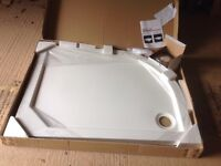 Merlyn Merlyte Offset Quadrant RH Shower Tray 1200 x 900 mm.