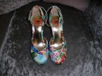 Rocketdog multi coloured ankle strap shoes