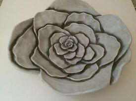 Stunning pottery flower low bowl