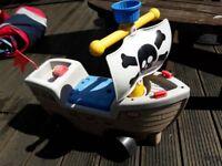 Kids pirate ship ride on.