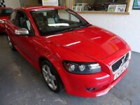 2008 VOLVO C30 1.6 R-DESINGN SPORT 2 DOOR, COUPE, FULL SERVCIE HISTORY, NEW TIMING BELT AT 94,000