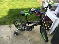 Kids ben 10 bike, like new condition hardly used