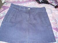Ladies denim skirt size medium