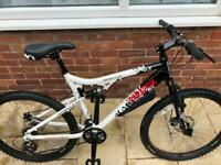 LARGE FULL SUSPENSION MOUNTAIN BIKE IN NEAR NEW CONDITION