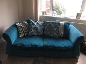 Dfs 4seater sofa and snuggle chair