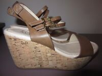 As New Ladies Summer Wedge ALDO Sandals Size 39/6
