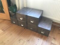Vintage/retro filing cabinet/table
