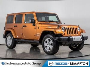 2011 Jeep WRANGLER UNLIMITED Sahara. LEATHER. BLUETOOTH. HTD SEA
