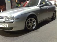 ALFA ROMEO 156 1.8 CLASSIC WITH BODYKIT ONLY 72000 MILES £500 NUMBERPLATE CLOVERLEAF ALLOYS ONLY 495