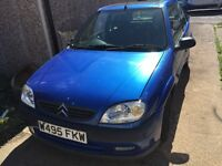 Citroen Saxo 1.4 in met blue spares or repairs £140 no offers Sheffield
