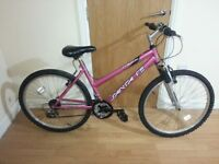 Ladies Pink bike with 26 wheel size