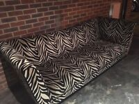 DFS Tiger Pattern 4 Seater Sofa