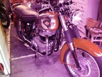 bsa super rocket rebuilt last year but hardly used due to recent operations.