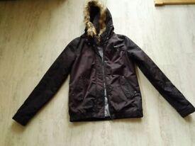 Rip curl ladies waterproof jacket with hood and fur trim