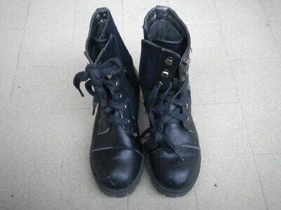 stivali stivaletti decorati anfibi scarpe bambina bimba nero zip lacci numero 31