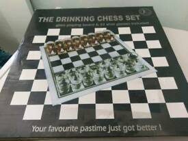 Draughts or chess drinking game