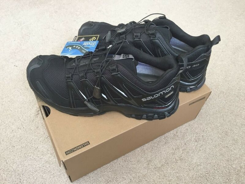 New Mens Salomon XA Pro 3D GTX Gore-Tex Waterproof Trail Running Shoes Trainers, used for sale  Wirral, Merseyside