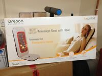 Oregon Scientific 3D Massage Seat with Heat - Remote Control Operation