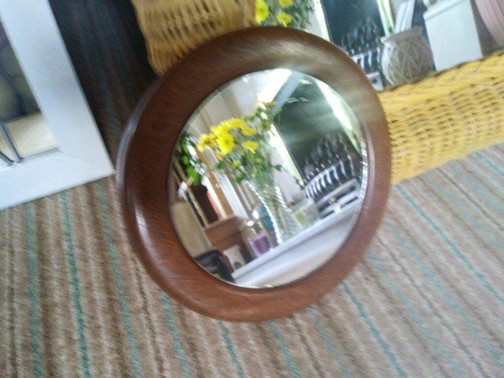 Wall Mirror Small Round Wood Framed Mirror Shaving Makeup Mirror Lot In Trinity Edinburgh Gumtree