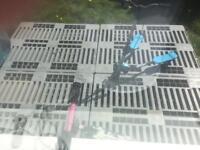 Hard plastic pallets