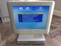 Hitachi 20 inch 4:3 LCD TV + Sky box, remotes, power cables etc