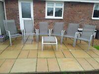 Metal patio/garden chairs