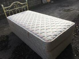 Single bed, mattress and head board