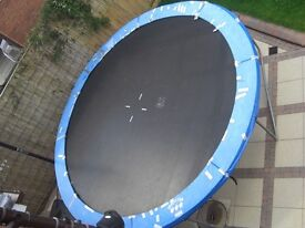 12' wide trampoline, large size makes this trampoline much more enjoyable and safer to use.