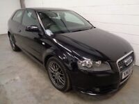 AUDI A3 S-LINE SPECIAL EDITION , 2006 , LOW MILES + HISTORY , YEARS MOT, FINANCE AVAILABLE, WARRANTY