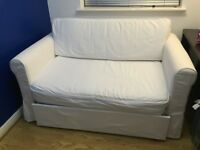WHITE IKEA SOFA BED- good condition. eed gone ASAP!!