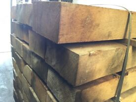 Solid oak railway sleepers