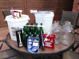 Complete Wine Making Kit. Inc 30L Barrels, Demi Johns, Bottles and more.