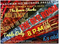 1st June Live Music @ Ealing RED Room Lemon Sharks+Made in Minsk+Born Of The Sun+Trade Only