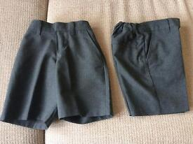 Marks and spencer grey boys school shorts