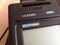 Hypercom FastPOS ICE550 Credit/Debit Card Terminal with leads and swivel base