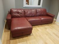 Leather Sofa Bed in excellent condition