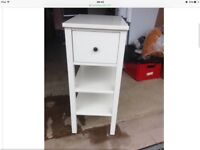 WANTED - WHITE IKEA HEMNES SIDE BEDSIDE TABLE WITH DRAWER