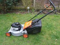 Flymo Briggs and Stratton petrol lawn mower