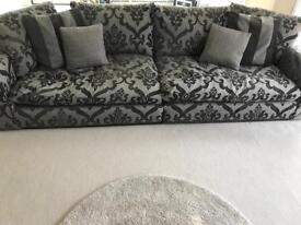 Grey sofa suite