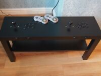 2 PLAYER ARCADE COFFEE TABLE WITH 1000's OF GAMES - MAN CAVE